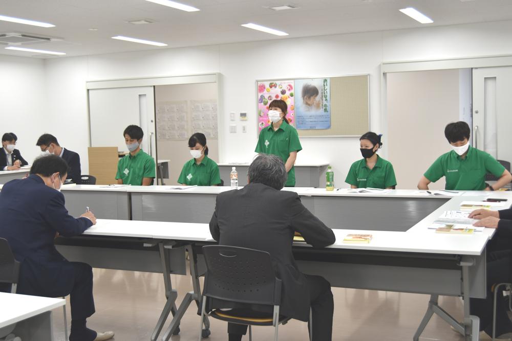 坂本大臣と若手社員との意見交換会がスタート!